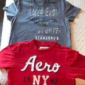 Other - 2 Small tshirts AEROPOSTALE & American Eagle